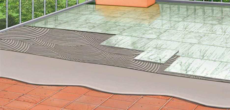 Impermeabilizzazione guaina direttamente sul vecchio pavimento.